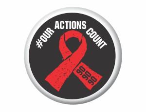 AIDS Button Badge