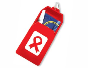 AIDS Condom Compartment Keyring