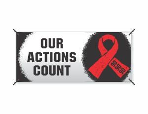 AIDS Eyelet Banner